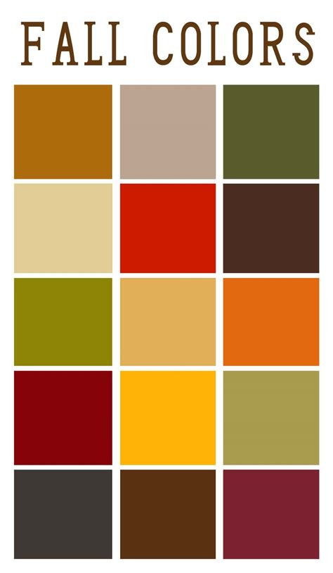 fall color pallette fall color palette autumntime pinterest