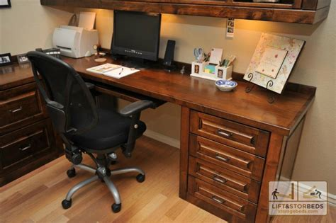 Custom Office Furniture And Entertainment Centers Lift Custom Home Office Furniture
