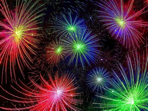 happy  year   years fireworks red blue yellow