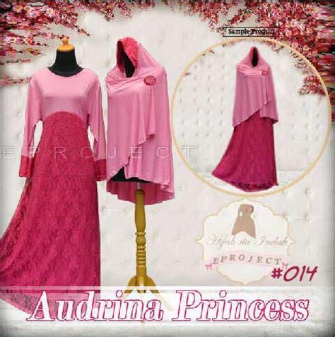 Bergo Princessa Combi baju gamis syari audrina princess a014 busana muslim