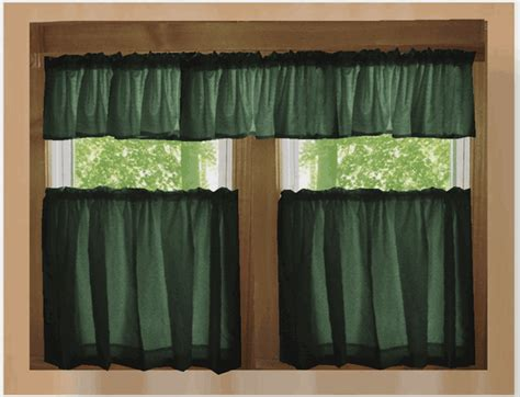forest green curtains drapes solid dark forest green kitchen cafe tier curtains