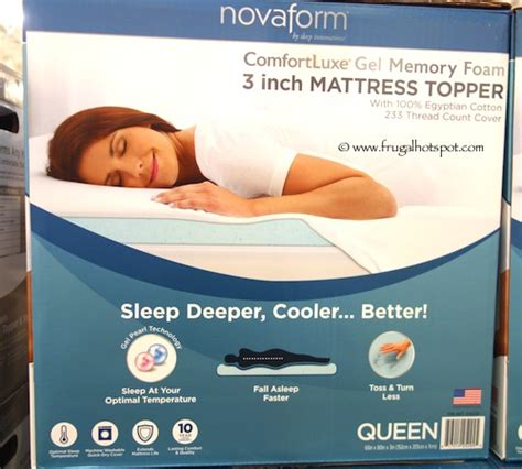 Novaform 3 Comfort Memory Foam Mattress Topper Reviews by Costco Sale Novaform Comfortluxe Gel Memory Foam 3