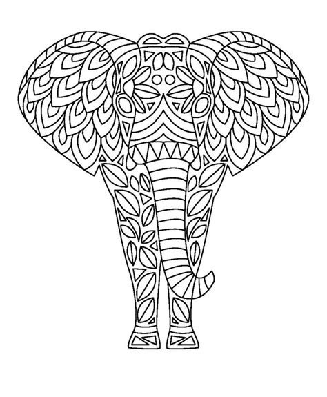 coloring pages  print elephant images