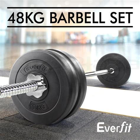Barbell Fitness barbell weights set plates home bench press fitness