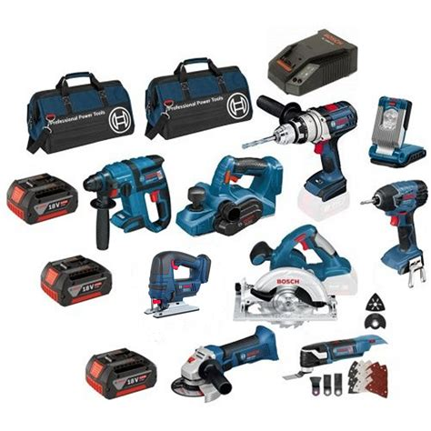 bosch power tools boschtools bosch 18v cordless 6 piece tool kit rotary tool