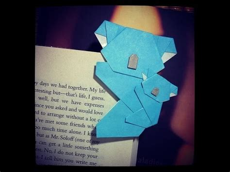 How To Make A Origami Koala - how to make bookmark koala bookmark origami koala