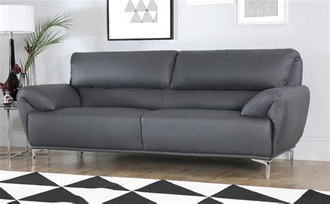 leather sofa furniture choice enzo grey leather sofa 3 seater only 163 499 99 furniture