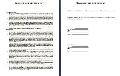 sponsorship prospectus template sponsorship prospectus template sponsorship contract