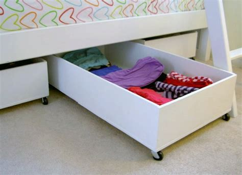 rolling under bed storage drawers underbed storage creative storage ideas 9 spots you