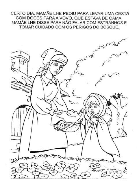 LIVRO PARA COLORIR DE CHAPEUZINHO VERMELHO, IMPRIMIR