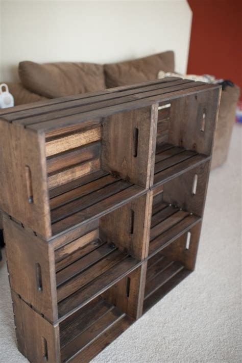 diy crate bookcase this home decorating ideas