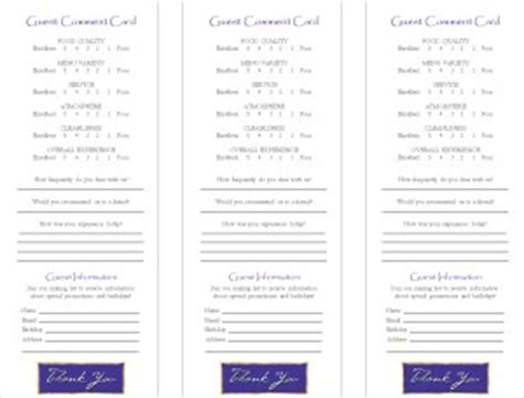 f4 comment cards per page free template guest comment card marketing archive