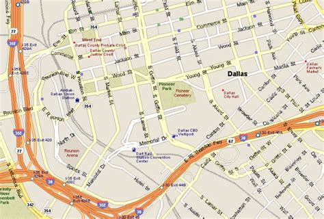 texas downtown map downtown dallas attractions map
