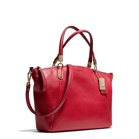 Coach Kelsey Small Patcwork lyst coach small kelsey satchel in leather in