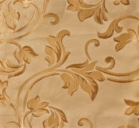 1 yard jacquard beige floral design drapery upholstery