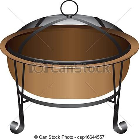 chiminea drawing clipart vector of pit the copper pit with