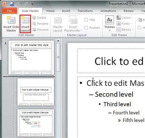 add layout powerpoint 2010 add new slide layouts in powerpoint 2010 powerpoint