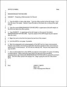 Air Force Memorandum Of Agreement Template Ar 25 50 Memorandum For Record Example Best Template