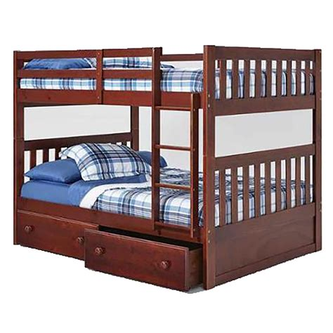 Bunk Bed With Storage Underneath Chelsea Home Mission Bunk Bed With Bed Storage Chocolate Chf 36ff710 S At