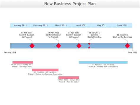 New Business Project Plan Template conceptdraw sles project chart