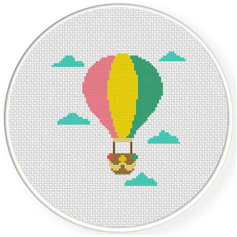 air balloon pattern hot air balloon in the sky cross stitch pattern daily
