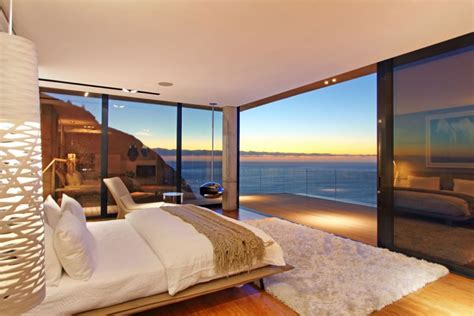bedroom view breathtaking villa incorporating boulders in its design