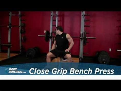 close grip bench bodybuilding 405lbs 180kg close grip bench press triceps doovi