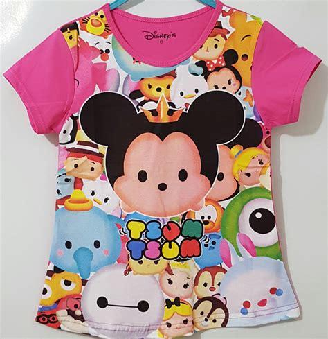 Harga Kaos Anak Merk Disney kaos tsum tsum print pink 1 6 disney grosir eceran