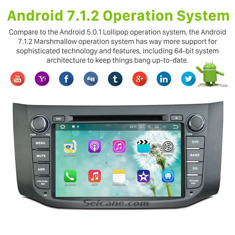 android gps android 7 1 dvd stereo bluetooth radio gps navigation for 2012 2013 2014 2015 nissan sentra with