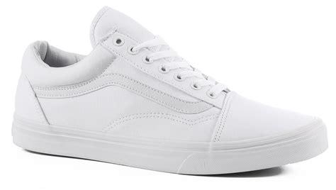vans s skool shoes true white free shipping