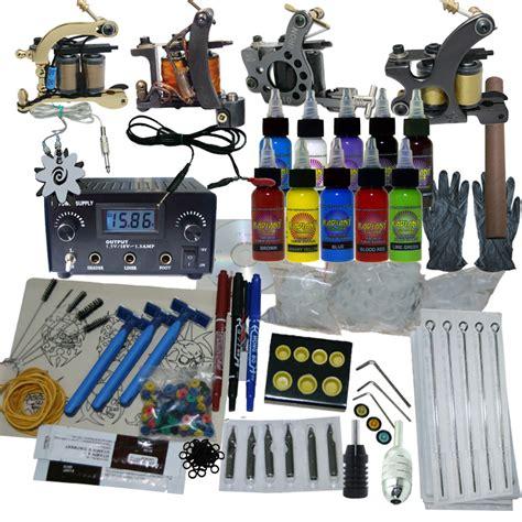 tattoo kit hs code 4 machine apprentice tattoo kit with dual digital power