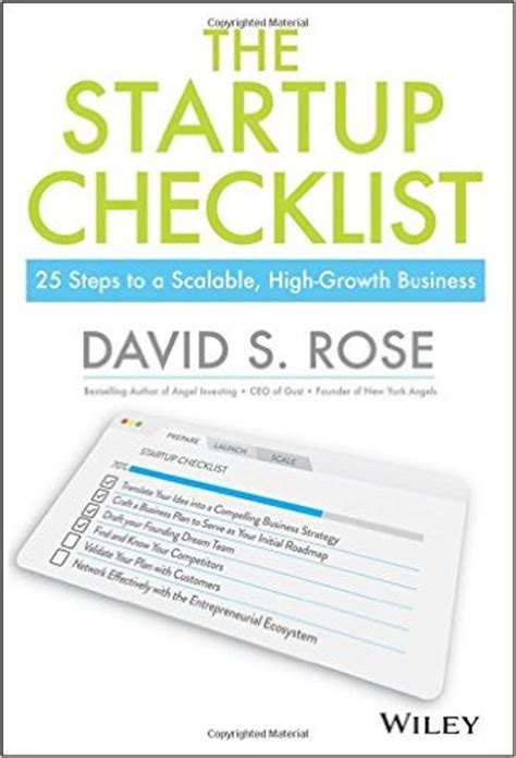 the startup checklist: 25 steps to scalable, high growth