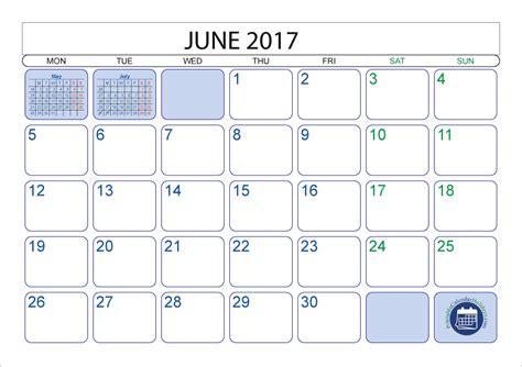 calendar june 2017 printable 2017 calendar