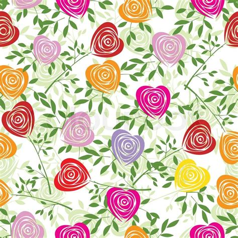 pattern background fabric 2524614 multicoloured art vector heart rose pattern