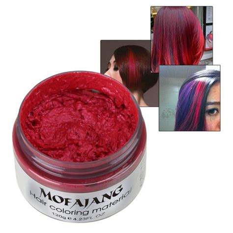 color wax 7 colors hair wax hubee dye hairstyle