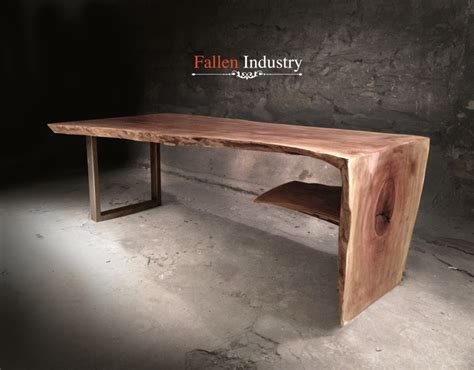 wooden waterfall coffee table fallen industry pieces