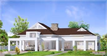 Bungalow Designs Single Floor Luxury Bungalow Elevation Kerala Home Design And Floor Plans