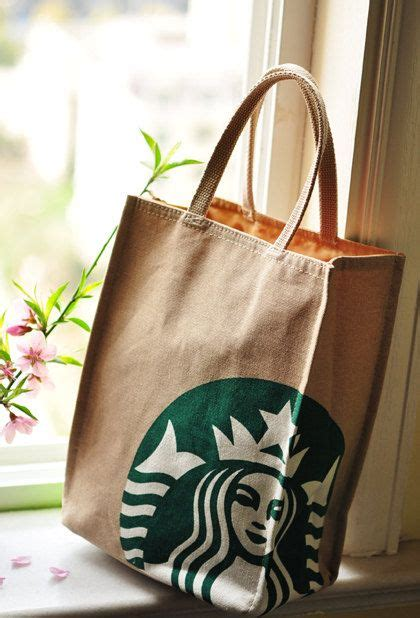 Tote Bag Denim Starbucks so small canvas tote bag starbucks printed by beinspire on etsy 16 00