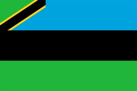 The Of file flag of zanzibar svg