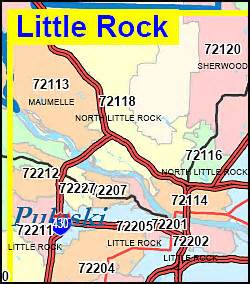 Little Rock Zip Codes Map by Arkansas Zip Code Map Including County Maps