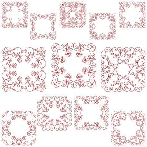 design pattern zusammenfassung quiltblocks 2 machine embroidery pattern cd 12 designs
