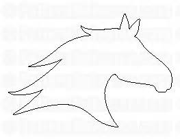 pin horse head template free for all sketchfu on pinterest