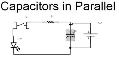 capacitors in parallel he really means capacitors across the supply capacitors in parallel refers to two capacitor in