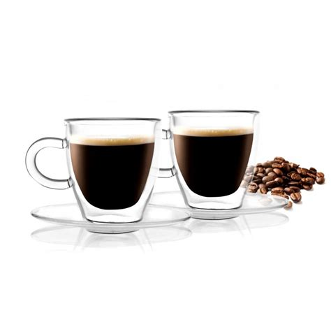 double walled espresso cups amo 50 vialli design