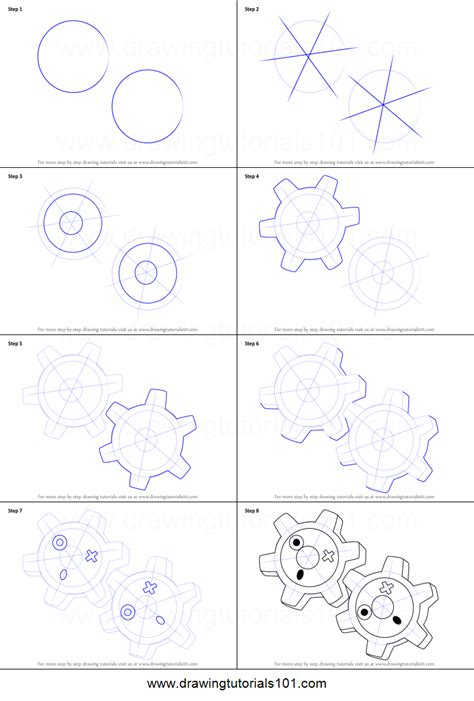 klink pokemon coloring pages how to draw klink from pokemon printable step by step