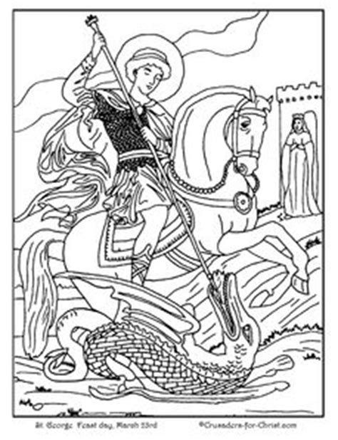 st george catholic coloring page catholic coloring