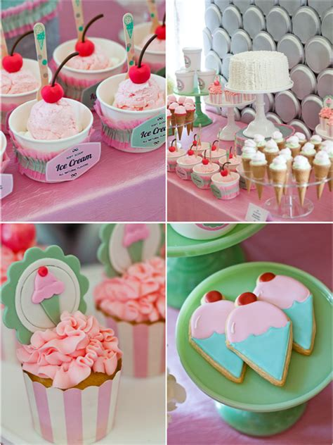 ice cream birthday party ideas an ice cream parlor party desserts table party ideas
