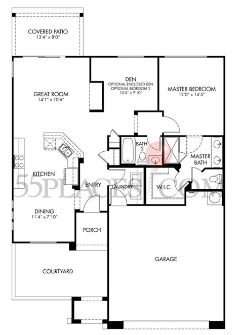 melody floorplan 1189 sq ft cantamia 55places