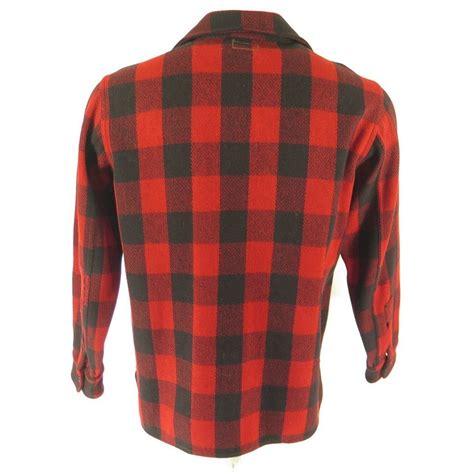 M Plaid Shirt vintage 30s ll bean wool shirt mens m buffalo plaid cpo