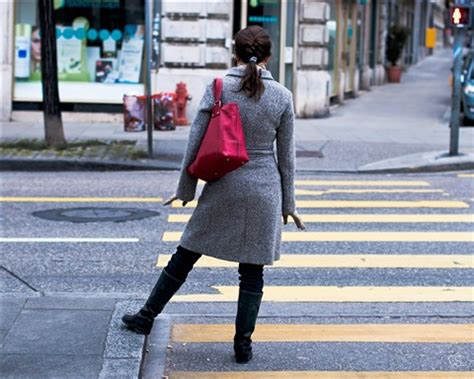 woman waiting to cross the street: cary seipp: galleries